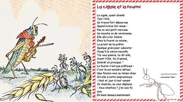 Fables de jean de la fontaine - Illustration la cigale et la fourmi ...